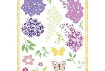 Justrite Papercraft Multi-Step Lilac Bouquet Clear Stamp