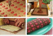 Patterned Rolled Cakes