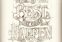 Lettering,typography
