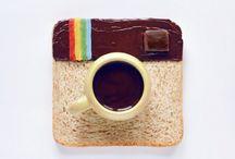 Immagini dell'arte del cibo / Daryna Kossar è un designer e fotografo che pubblica le immagini dell'arte del cibo sul suo account Instagram. Loghi delle reti sociali, composta di mirtilli, melograni e fetta di cioccolato, pesce e limone auto, Mario e un vestito di piccoli pois, il suo lavoro è pieno di fantasia e colore.