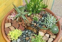 klein tuin in houer
