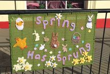Easter yarn bomb Haverfordwest 2017 / A group of wonderful women knit/ crochet for the town