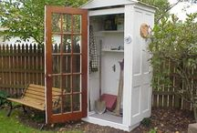 Doors and Windows / Repurposing old doors and windows is easier than you think! Just use your imagination.