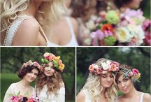 floral head pieces & jewellery