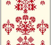 Hungarian traditional motif
