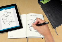 The Moleskine Livescribe Notebook / Proudly introducing the brand new Livescribe notebook.  Write your notes and ideas on the page, and watch them seamlessly appear in digital form on your device. From there, you can edit, paste, tweet and SMS your handwritten notes as you please. Discover all about the Livescribe notebook at www.moleskine.com/livescribe / by Moleskine World