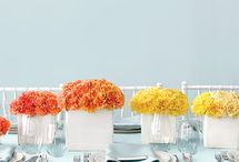 Tablescaping / flowers, place settings and table details