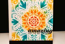 Cards, stenciling