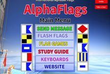 Alpha Flags iPAD App / The AlphaFlags iPad App is $9.95 in the Apple App store.  You can Send and Receive AlphaFlag (encrypted) Text Messages.  You can read the AlphaFlag message or decrypt the message. With Flash Flags you can type a message and the App displays the message, full color, full-screen and in hi-resolution.  You can send a one-time message or a repeating message.  Included are two card games to help you learn the Alpha Flags Alphabet, Find the Flag an Concentration.