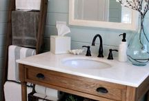 Country Bathrooms / Beautiful Country Primitive bathroom decorating ideas & products.