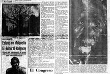 Historia escrita en diarios. / Las noticias de ayer que hoy son historia.