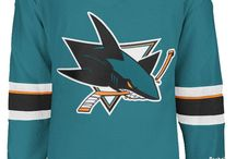 San Jose Sharks - Official NHL Hockey Jerseys / We are the leading manufacturer of professional sports lettering & numbering and we have been selling officially licensed NHL jerseys and apparel via the internet since 1999. Visit: CoolHockey.com for more!