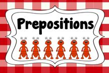 prepositions / by Cinda Taylor