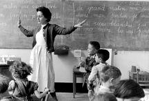 École d'antan  et jeux d'enfants / Il était une fois l'école et les cours de récréation