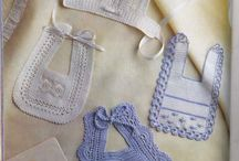 baberos de crochet