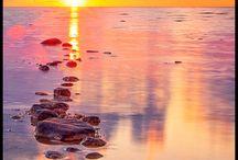 Natur i pastell / landskap och naturfotografi i pastelltoner. Målade naturmotiv i pastelltoner.