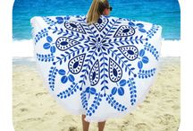 Round beach towels / Ronde strandlakens by Jozemiek