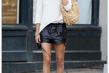 Leather shorts and skirts / How to wear leather shorts? How to style leather skirts? / by Match Clothes Colors