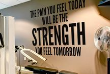 Gym wallquote