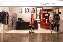 eva poleschinski & NWW: pop-up-store / NWW and the Austrian fashion designer Eva Poleschinski opened a new pop-up-store at the Airport in Vienna. Because fashion and furniture fit so perfectly together...