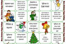 Christmas tasks/ board games