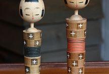 Japans Kokeshi dolls