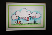 Kid's Rooms / Great art made by me, Jenny T. for kids rooms!  Acrylic, wood burned, watercolor and more.