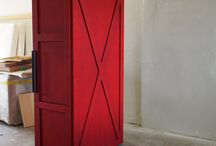 furniture idea / red box, red wardrobe, red furniture, #wrkbnch