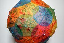 Sint Maarten / Lampion van papieren parapluutjes