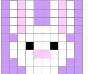 pixel art - Křížková výšivka