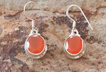 joyería / pendientes de plata con gemas