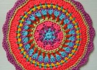Mandala Wheels 2 / Crochet mandalas created for a visual display, Yarndale 2014