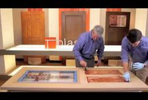 Staining Fiberglass Doors / Find out how to stain a Plastpro Fiberglass Door in just a few simple step. Plastpro's Tom Brooks and Eric Baynes show you how to put a finish on your plastpro door.