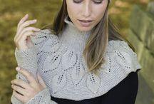 Bladmønster strikk