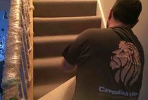 Neat and Tidy Grey Carpet fitting / Before and after pictures of work done on stairs and floor in a property
