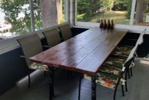 Plank table / by Susan Kretschmer