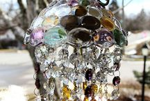 Suncatchers / Created from old and new,  full of beauty and energy as the sun presents its rainbows.
