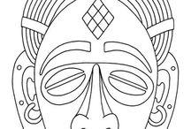 Mascaras y esculturas
