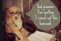 Comedy Relief! / Funny quotes, pics re: The English Language