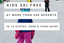 Hitting the Slopes / Ski vacation. Family ski trip ideas and destinations.