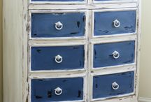 Napoleonic Blue - kolor tygodnia/colour of a week- Chalk Paint decorative paint by Annie Sloan
