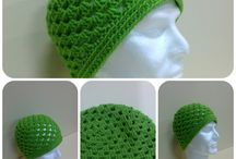 Tutorial green beanie crochet