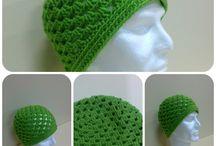 Tutorial green beanie crochet