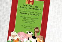 Farmyard Party Ideas / Barnyard Farm Party Ideas, Party Printables, Party supplies to help you craft a beautiful party!!