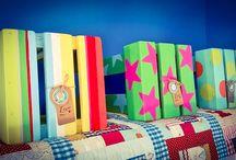 Designer Childrens Stools / Designer Childrens / Toddler Wooden Stools...www.alexisbarncreates.com