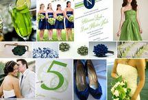 Weddings :: Navy, white, apple green / by Angela's Bella Flora, Inc.