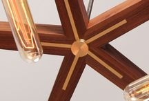 Lighting / Lighting made from Brass, Steel, Glass, live edge, walnut, pecan, oak