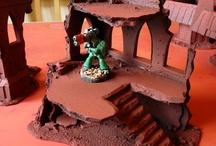 Terrain / fantasy houses terrain scenery medieval fantasy town war game tabletop