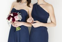 Navy & Rouge / Navy blue paired with red tones and pink tones are a perfect color story for a wedding.