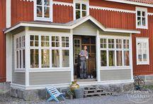 Verandor å vackra hus